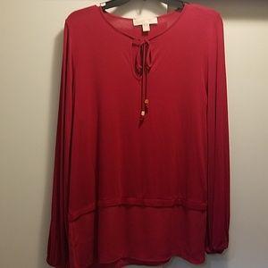Michael Kors Red Medium blouse shirt top